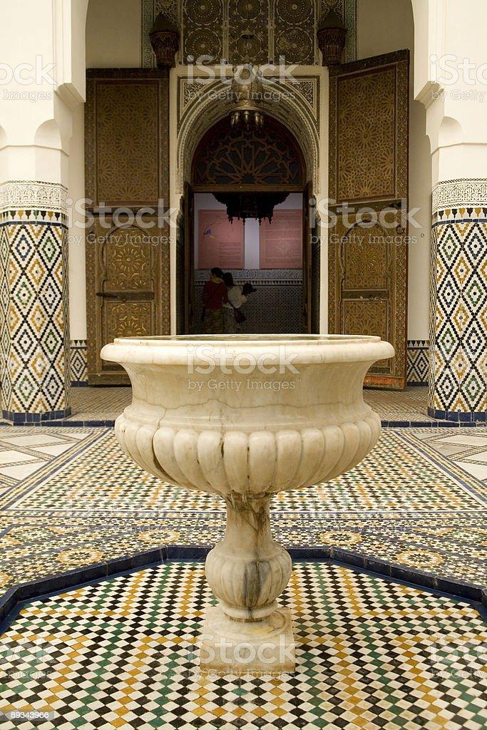 Marble fountain, Marrakech, Morocco. royalty-free stock photo