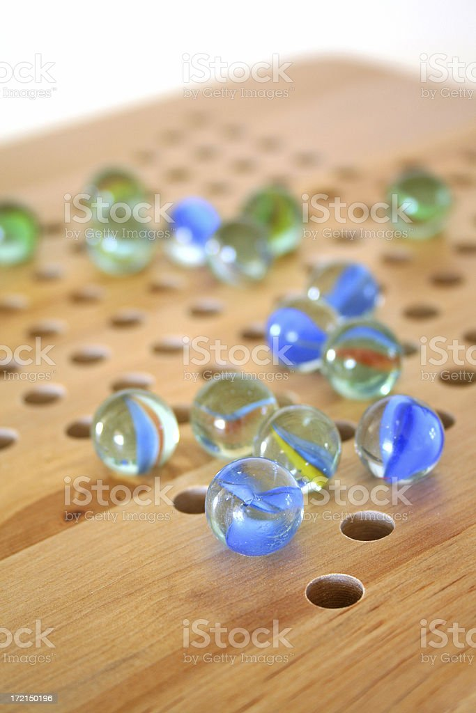 Marble game stock photo