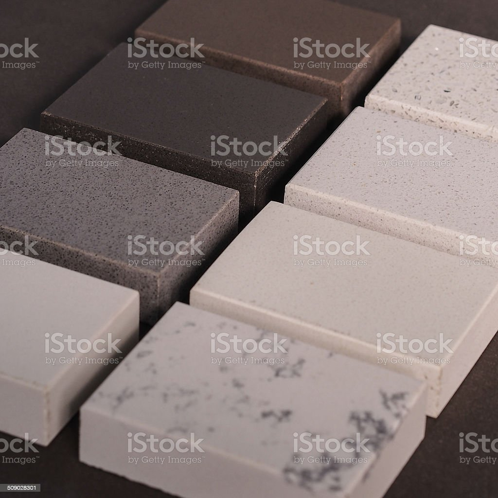 Marble, Granite & Stone Samples Interior Design stock photo