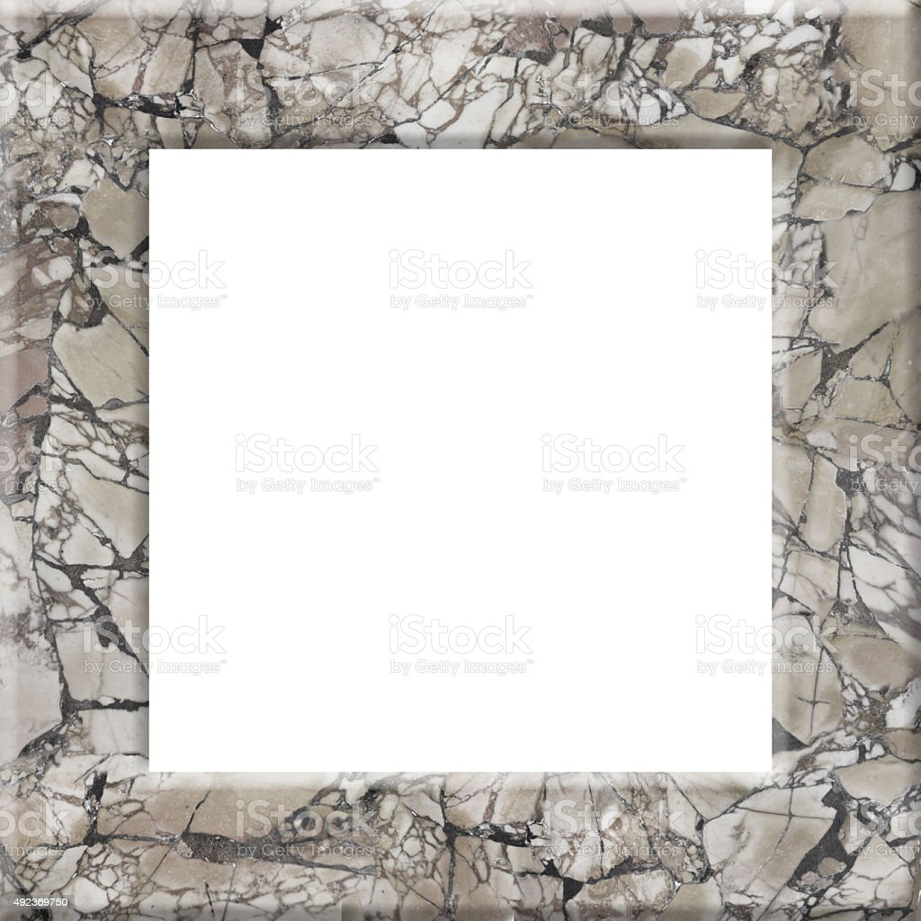 Marble le frame stock photo