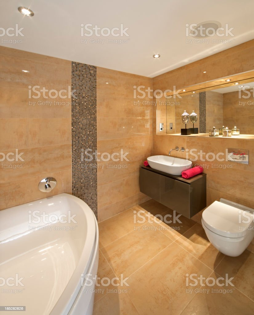 marble lined bathroom royalty-free stock photo