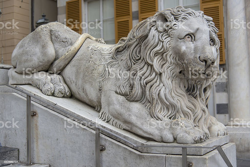 Marble lion royalty-free stock photo