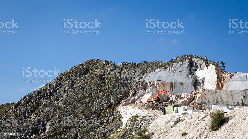 Marble Mine in Carrara Italy stock photo