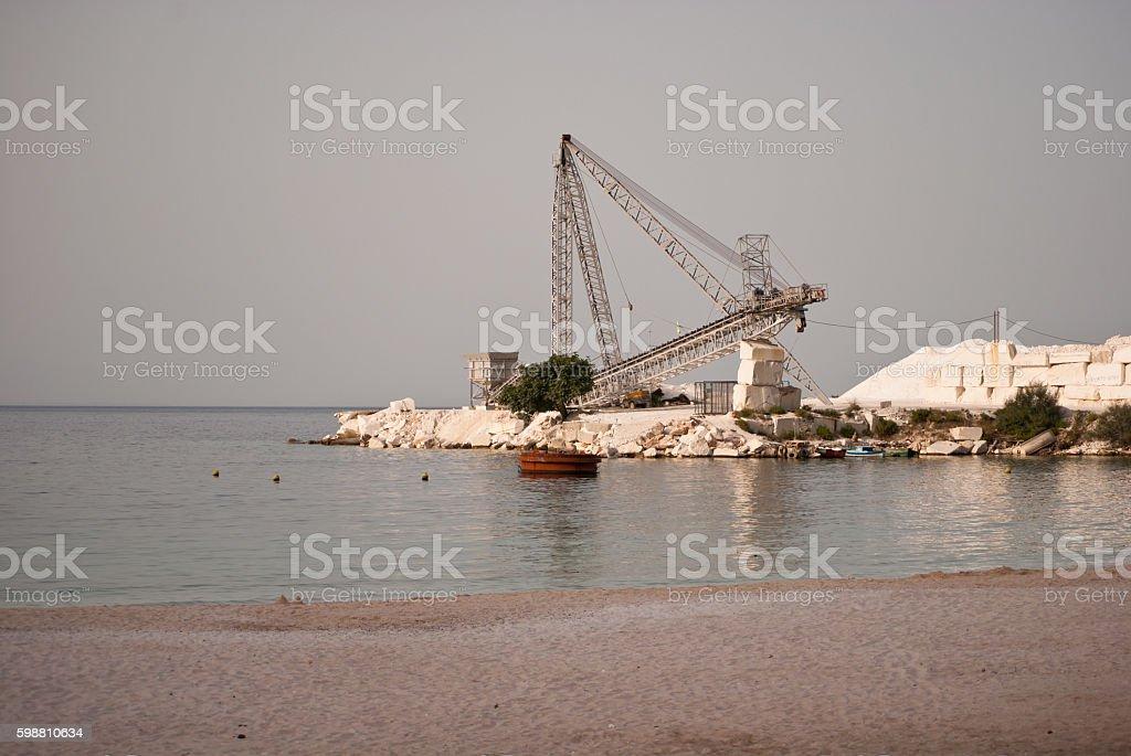 Marble mine stock photo