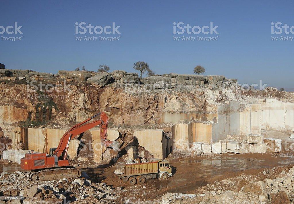 Marble Mining-I stock photo