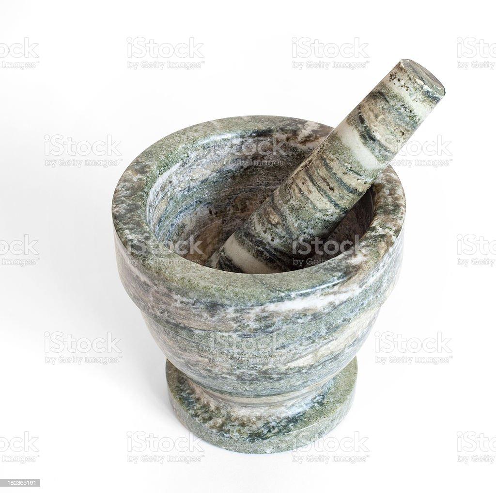 Marble mortar stock photo