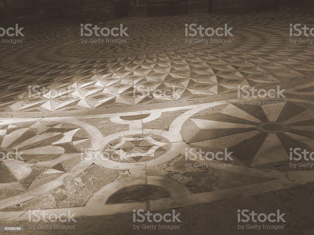 Marble Mosaic Floor, Venice, Italy. royalty-free stock photo