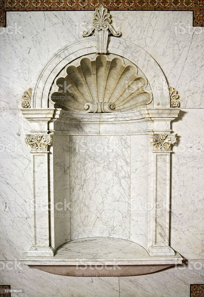 Marble Niche royalty-free stock photo