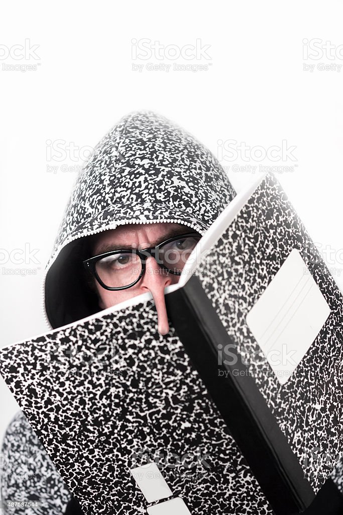 Marble Notebook Long Nose stock photo