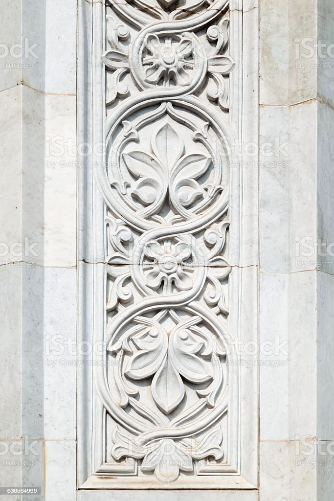 Marble ornament of wall stock photo