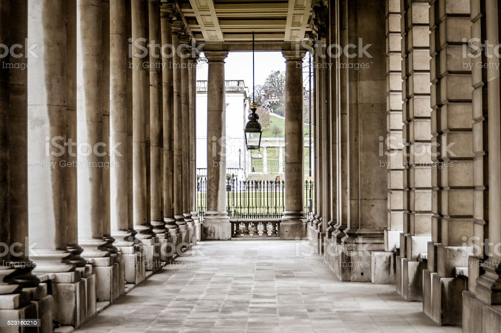 Marble pillars stock photo