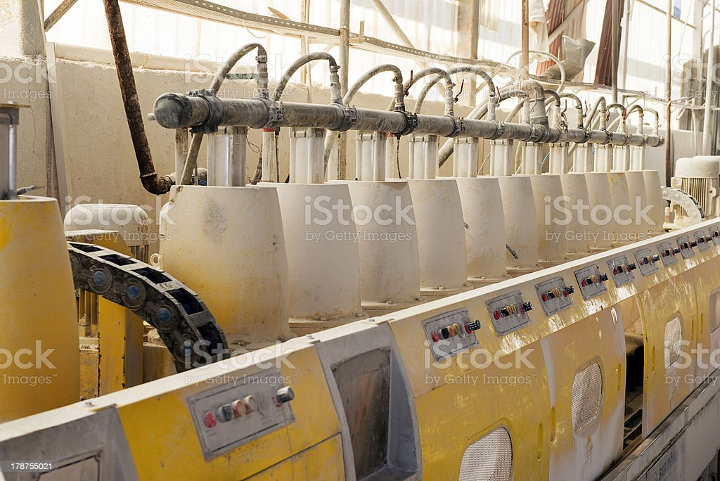 Marble polishing stock photo