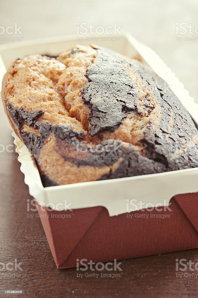 Marble Pound Cake stock photo