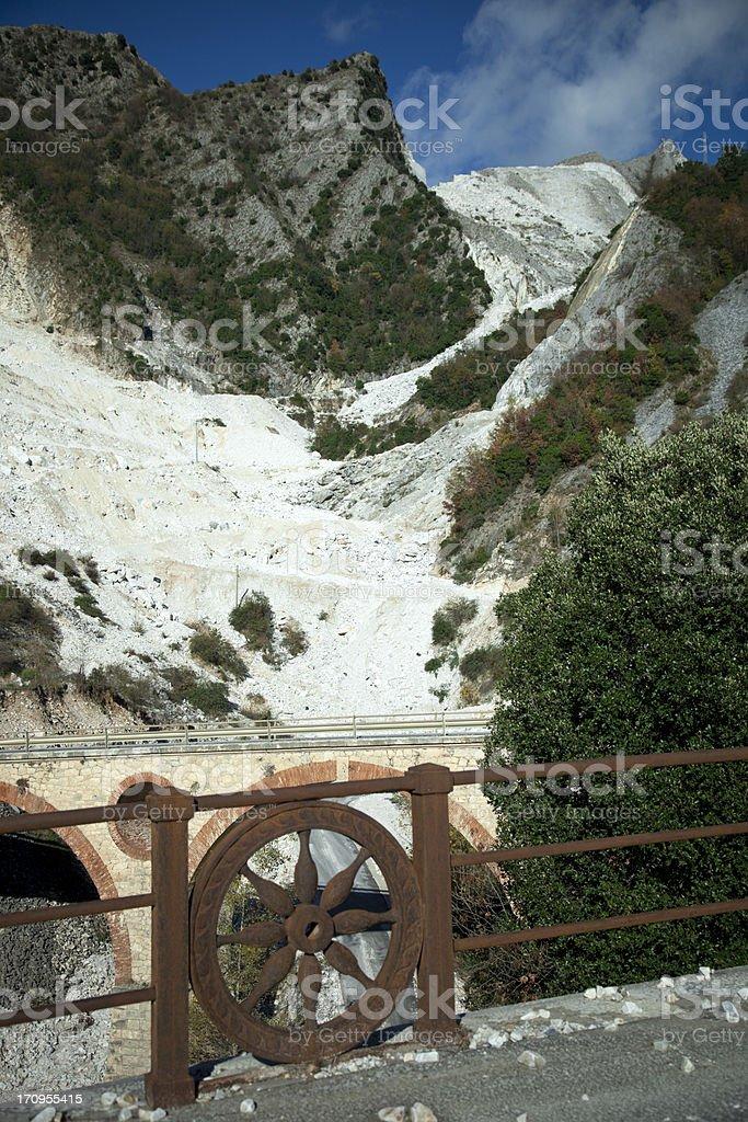 Marble Quarries Italy stock photo