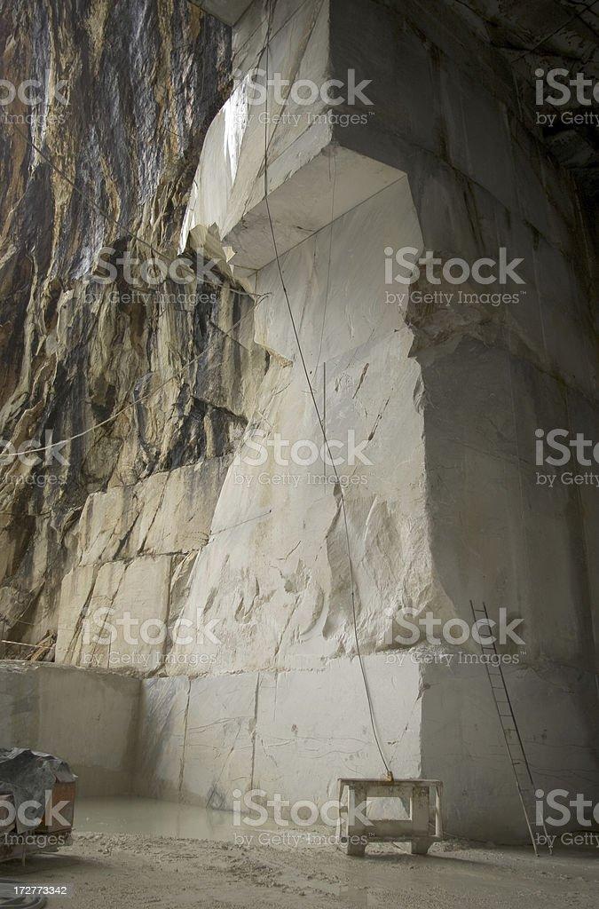 Marble Quarry , Carrara (MS) stock photo
