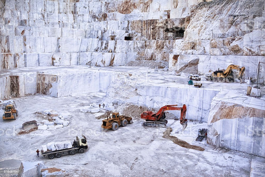 Marble Quarry. Carrara. stock photo