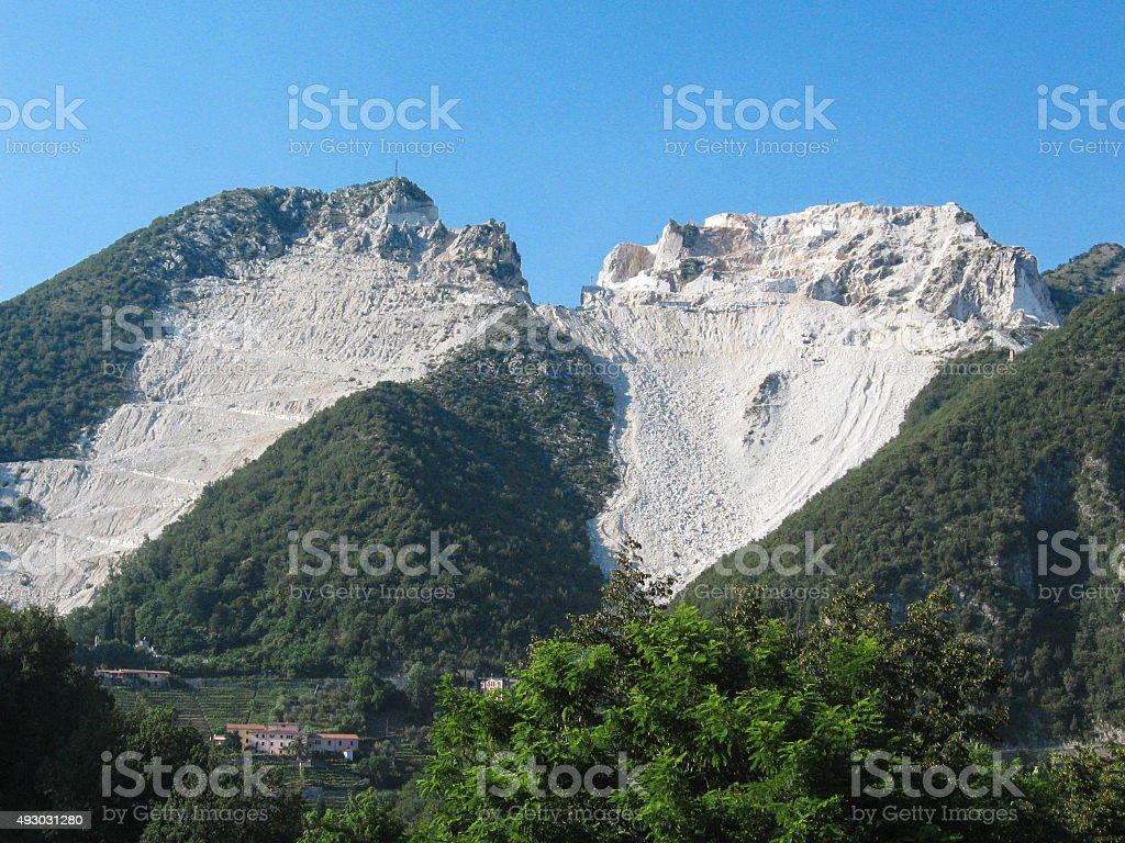 Marble quarry in Tuscany royalty-free stock photo