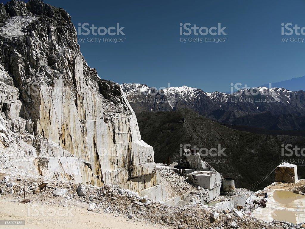 Marble quarry - mining, Italy royalty-free stock photo