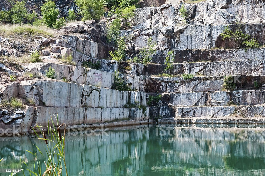 Marble quarry stock photo