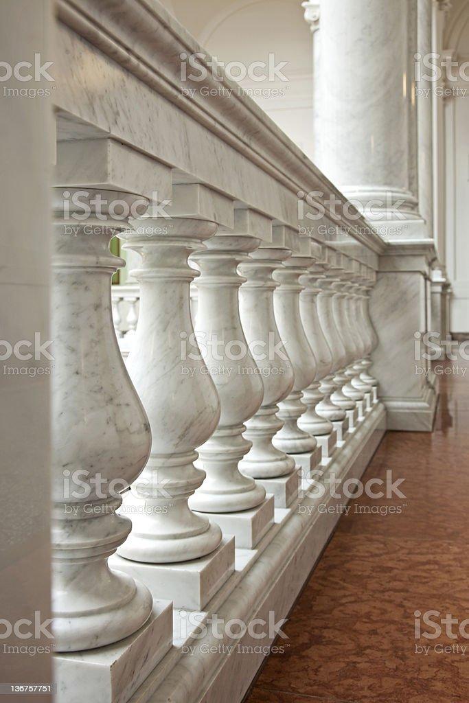 Marble railing royalty-free stock photo