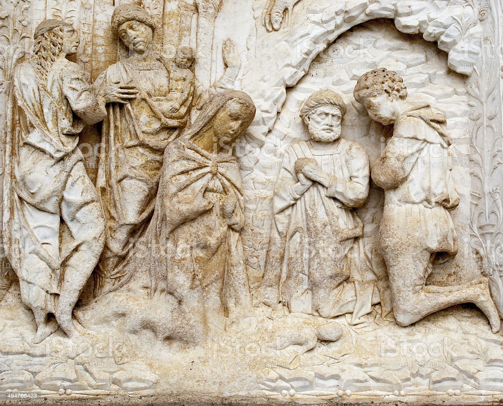 marble relief biblical royalty-free stock photo