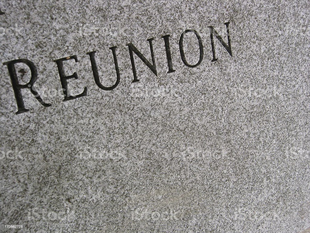 Marble Reunion - 45 angle - black and white royalty-free stock photo