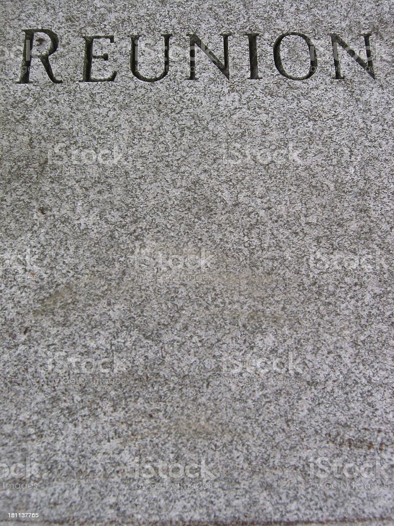 Marble Reunion - vertical - black and white royalty-free stock photo