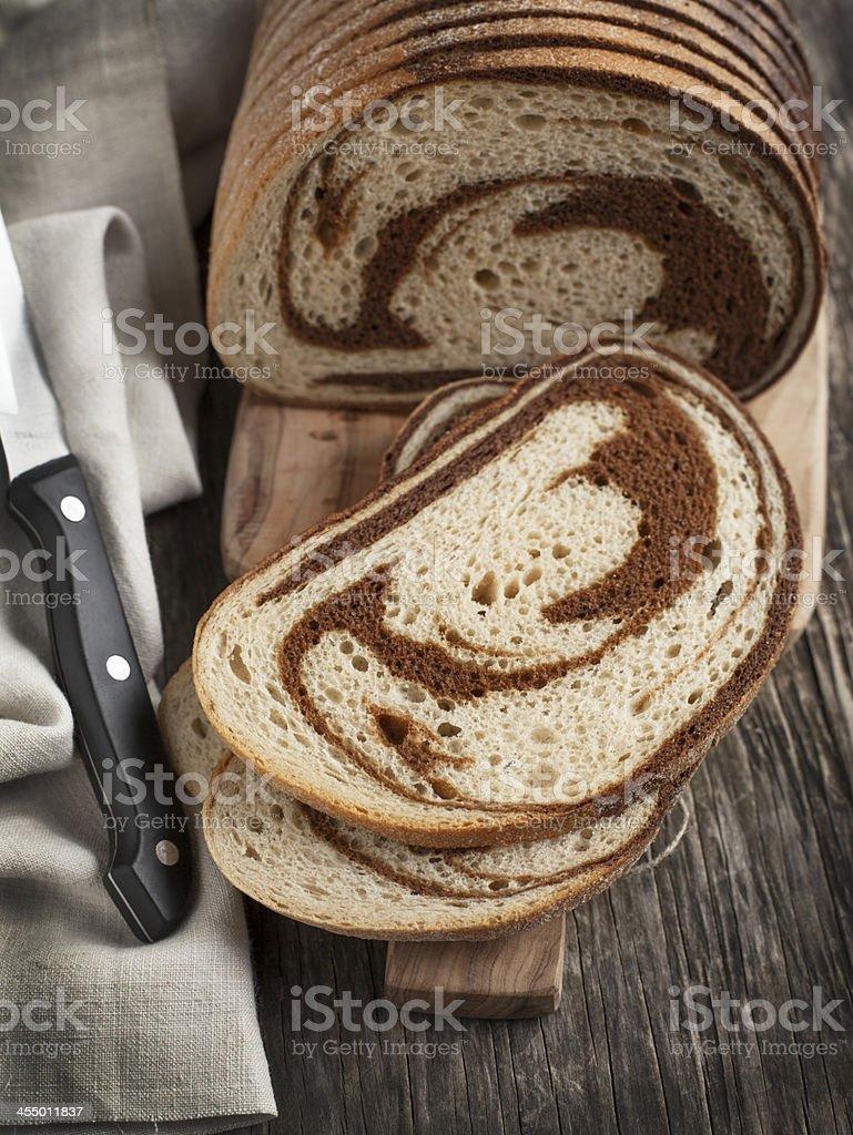 Marble rye bread stock photo