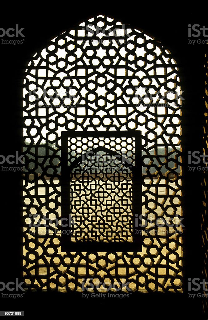 Marble screen window royalty-free stock photo