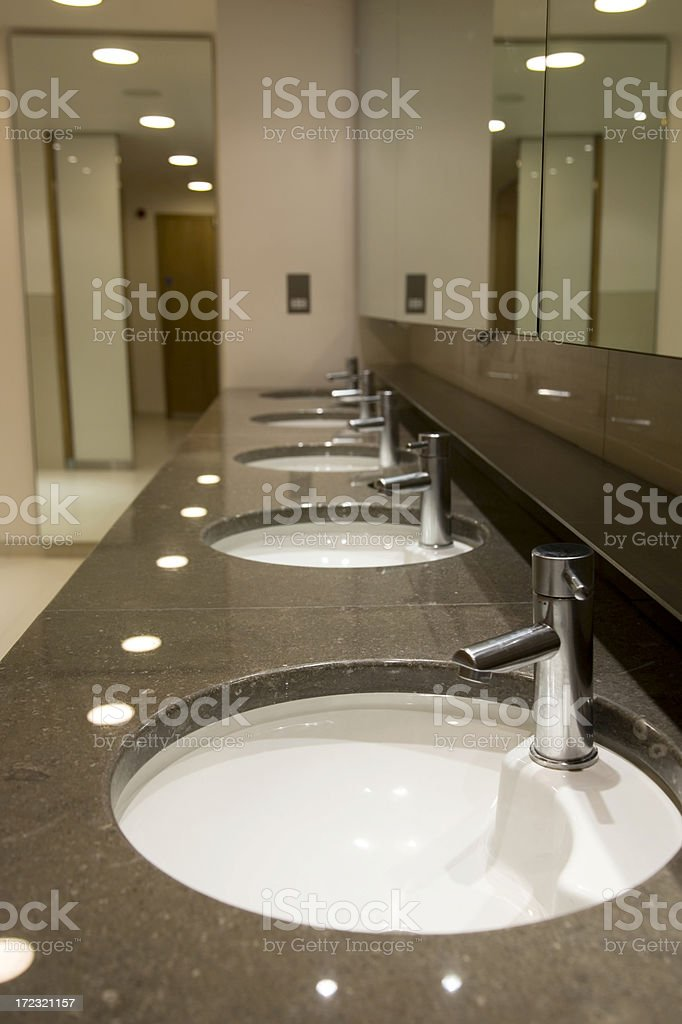 Marble Sinks stock photo