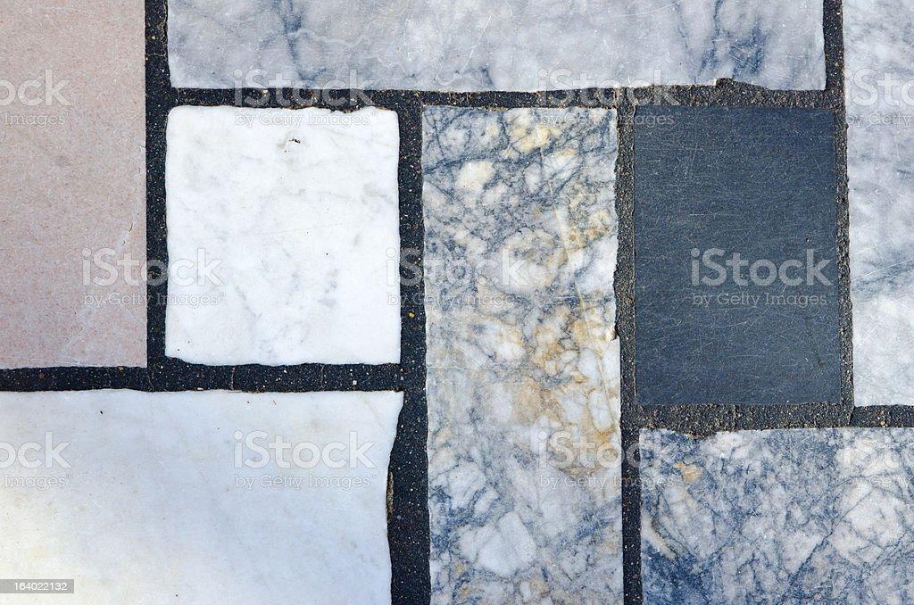 Marble Slabs Set in Black Mortar royalty-free stock photo