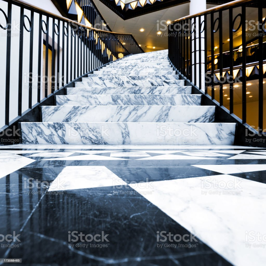Marble Staircase royalty-free stock photo