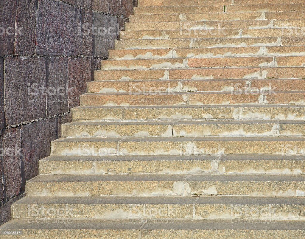 marble stairs at sunny day royalty-free stock photo