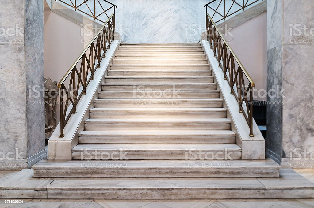 marble stairs indoors stock photo