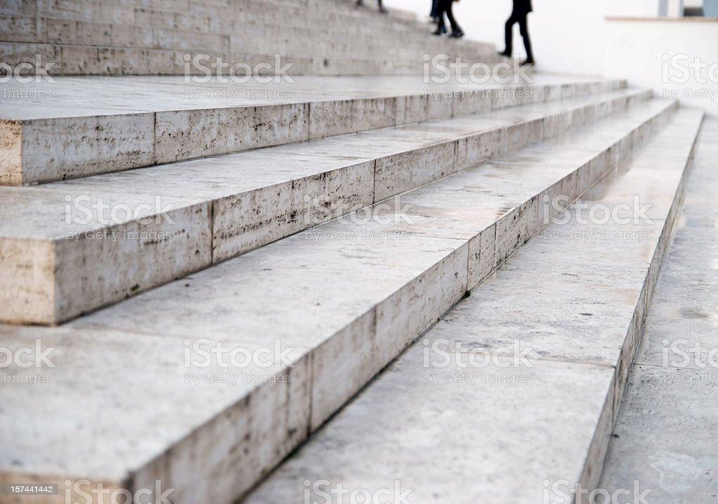 Marble stairs perspective stock photo