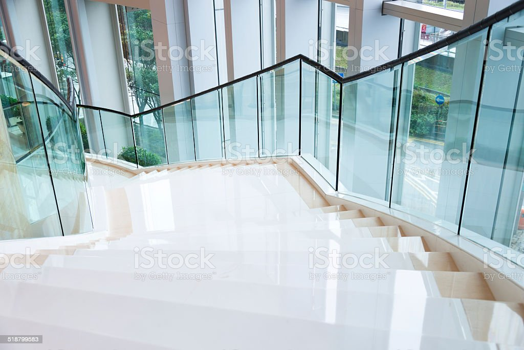 marble stairs stock photo