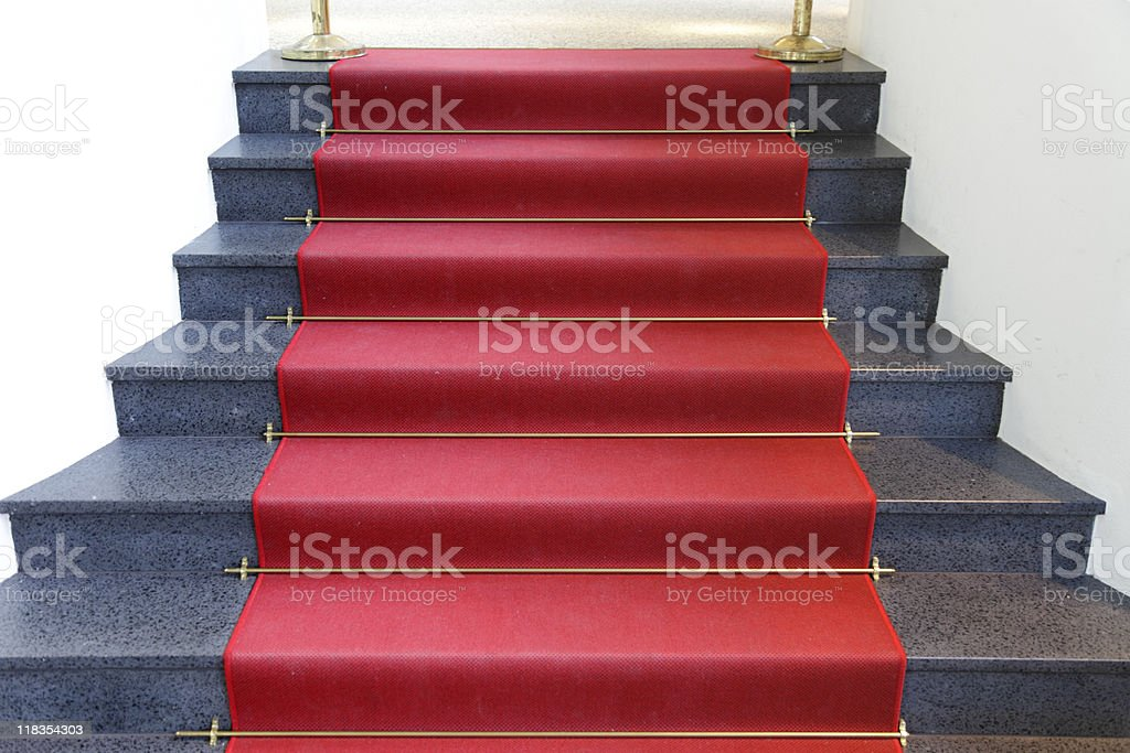 marble stairs with red carpet royalty-free stock photo