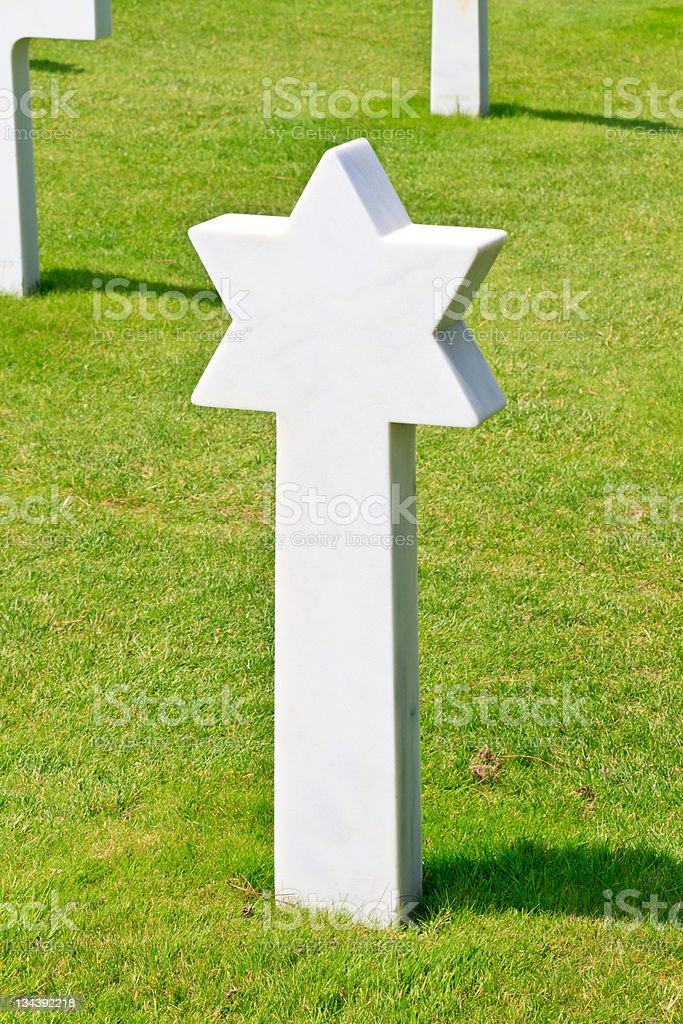 Marble Star of David - Fallen Soldier royalty-free stock photo