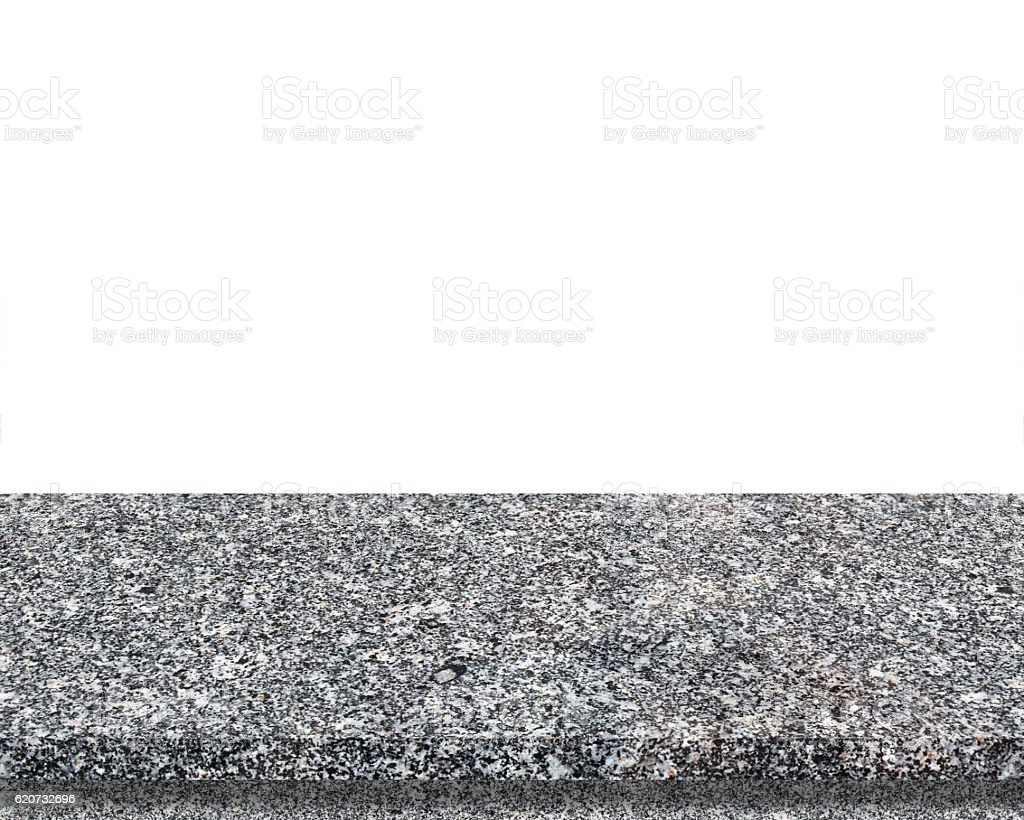 Kitchen Table Top Background marble stone table top isolated on white background stock photo