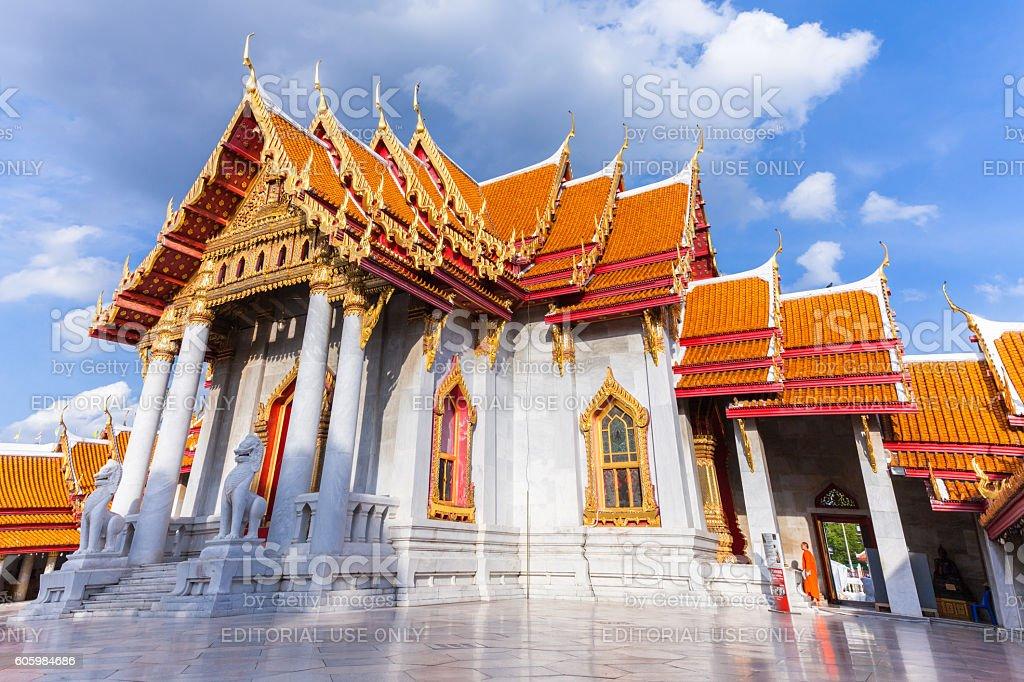 Marble Temple, Bangkok, Thailand stock photo