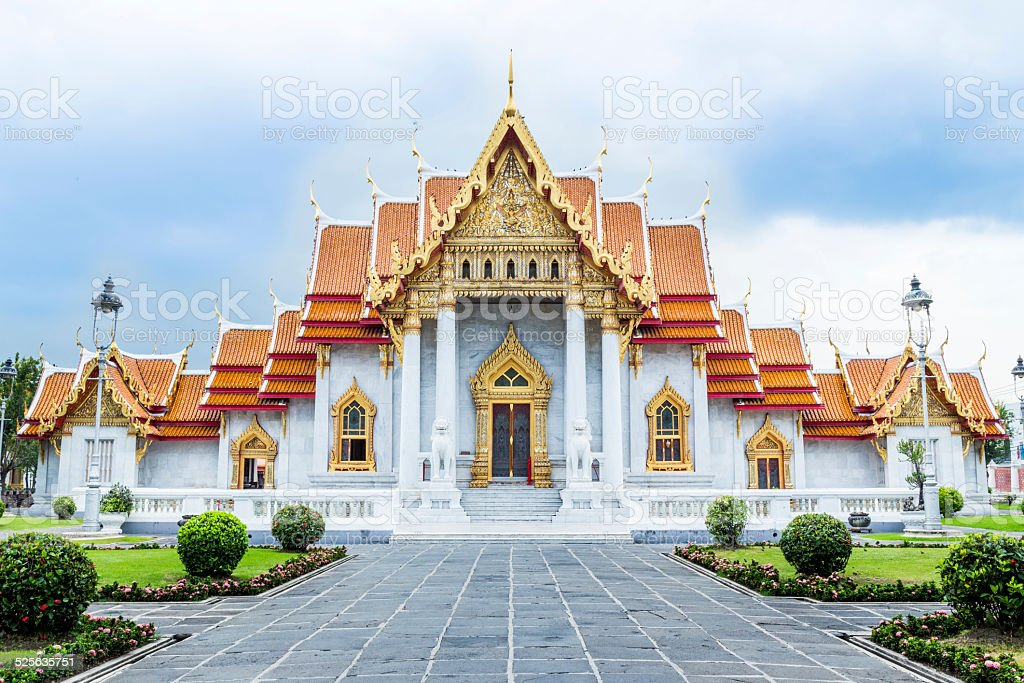 Marble Temple stock photo