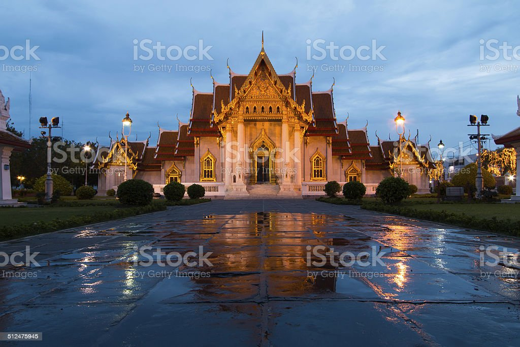 Marble Temple Thailand stock photo