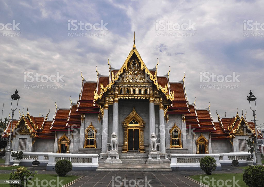 Marble Temple (Wat Benchamabophit Dusitvanaram), tourist attract royalty-free stock photo