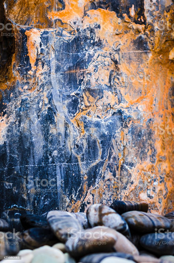 marble texture and stones from an ornamental garden royalty-free stock photo