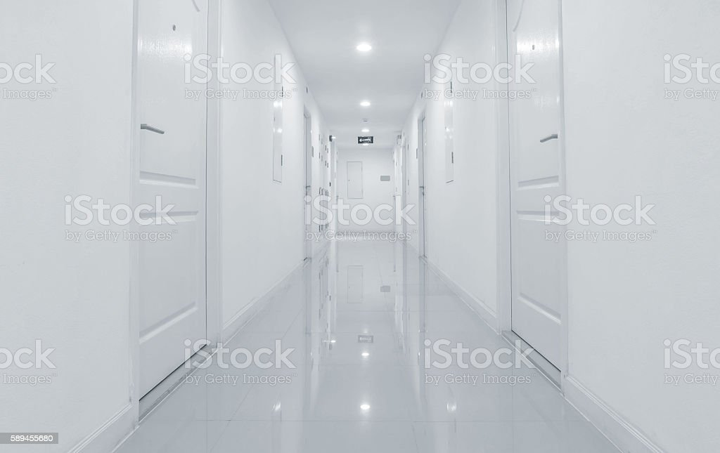 Marble tiles pathway view textured background , building interior stock photo