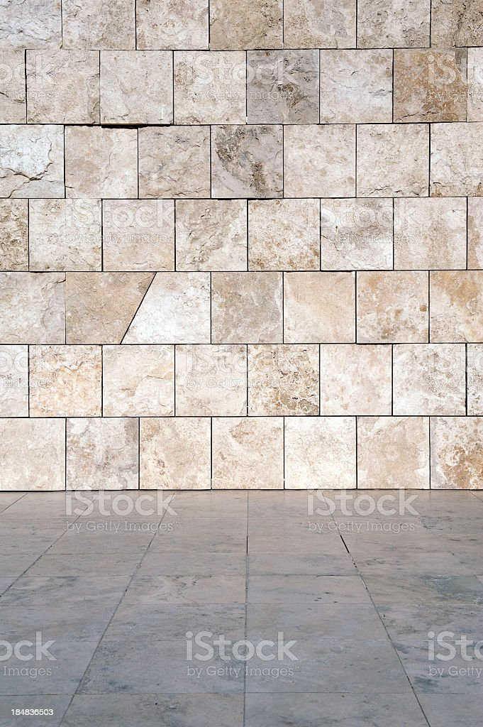 Marble wall and floor royalty-free stock photo