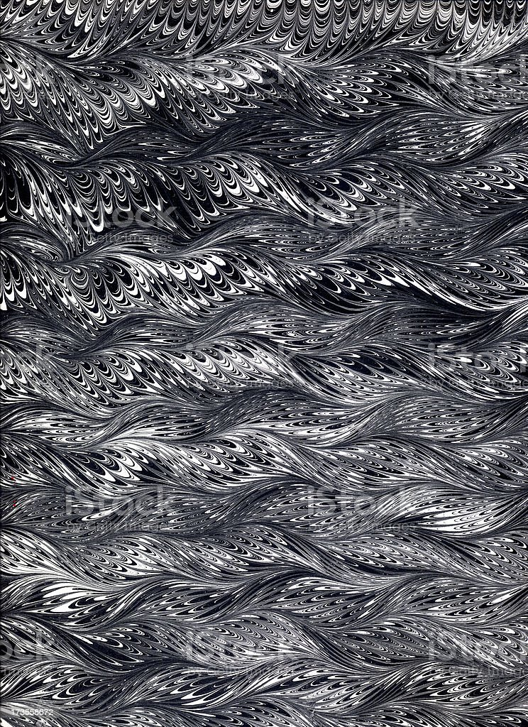 Marbled black and white royalty-free stock photo