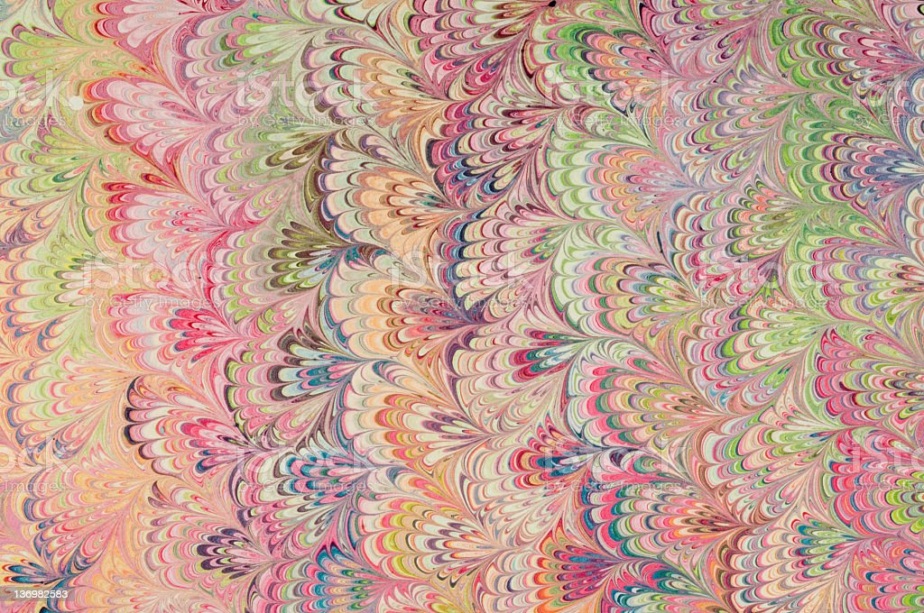 Marbled paper stock photo