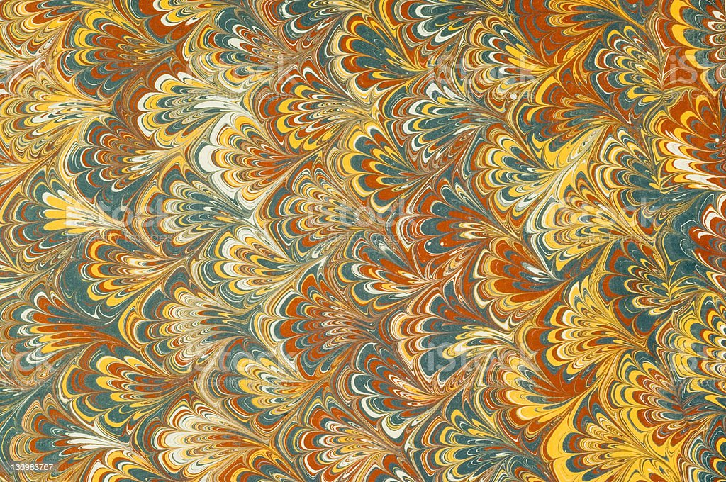 Marbled paper royalty-free stock photo