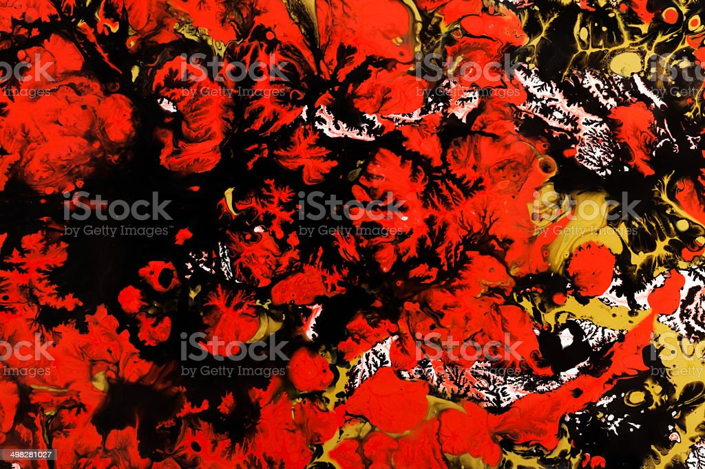 Marbled paper technique royalty-free stock photo